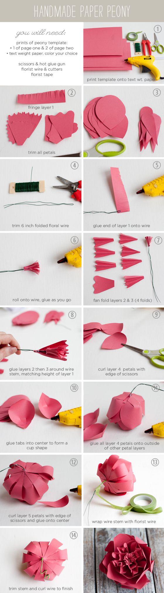 Folded Paper Flower Tutorial Vatozozdevelopment