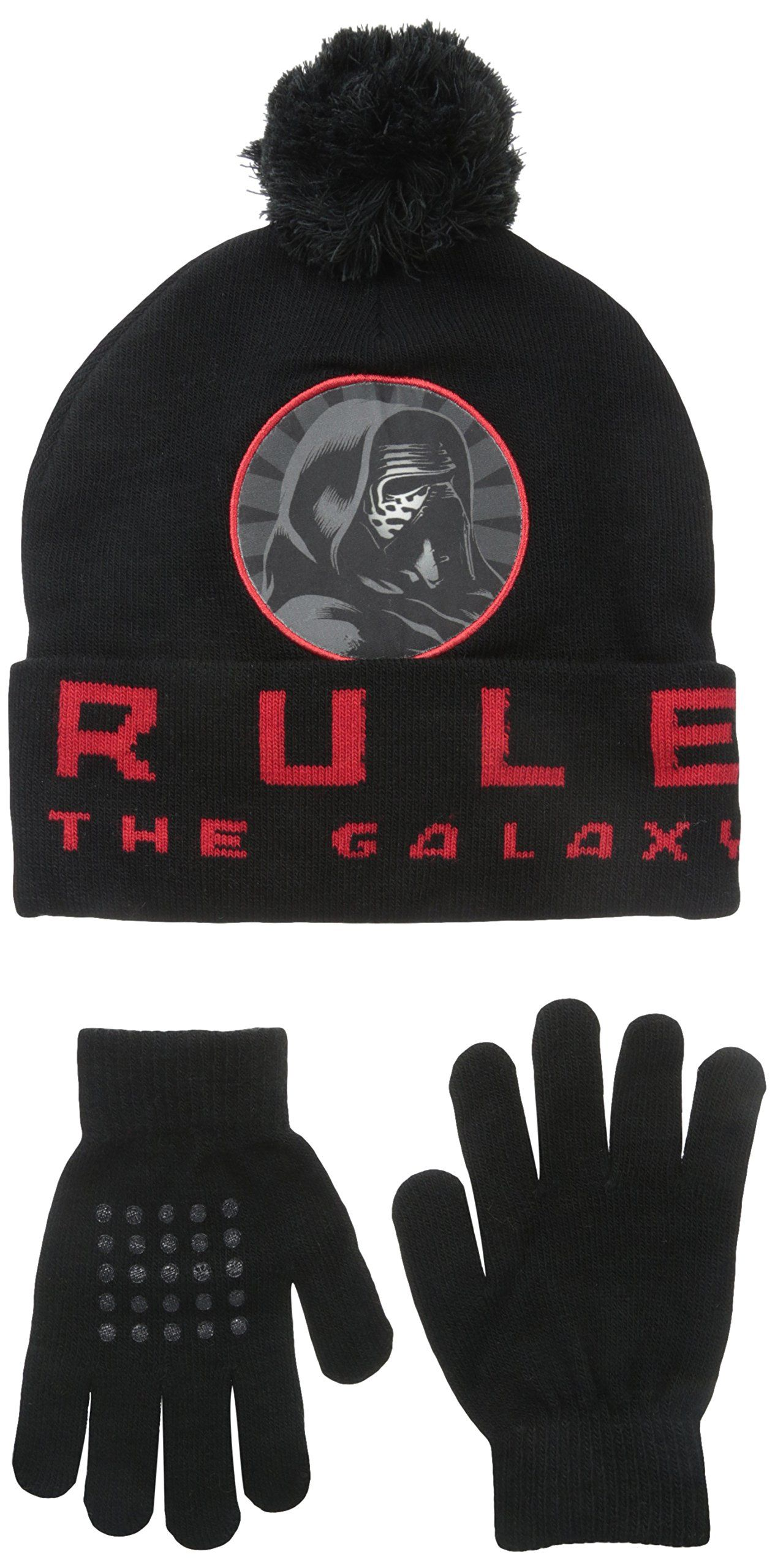 8cdb788461899 Star Wars Big Boys  Movie Episode 7 Kylo Ren Beanie with Glove Set ...