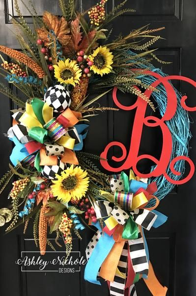 Photo of Bright & funny initial fall wreath