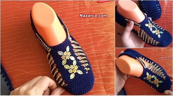 Çeyizlik Boncuklu Spor Ayakkabı Patik Modeli Yapılışı Türkçe Anlatımlı Videolu