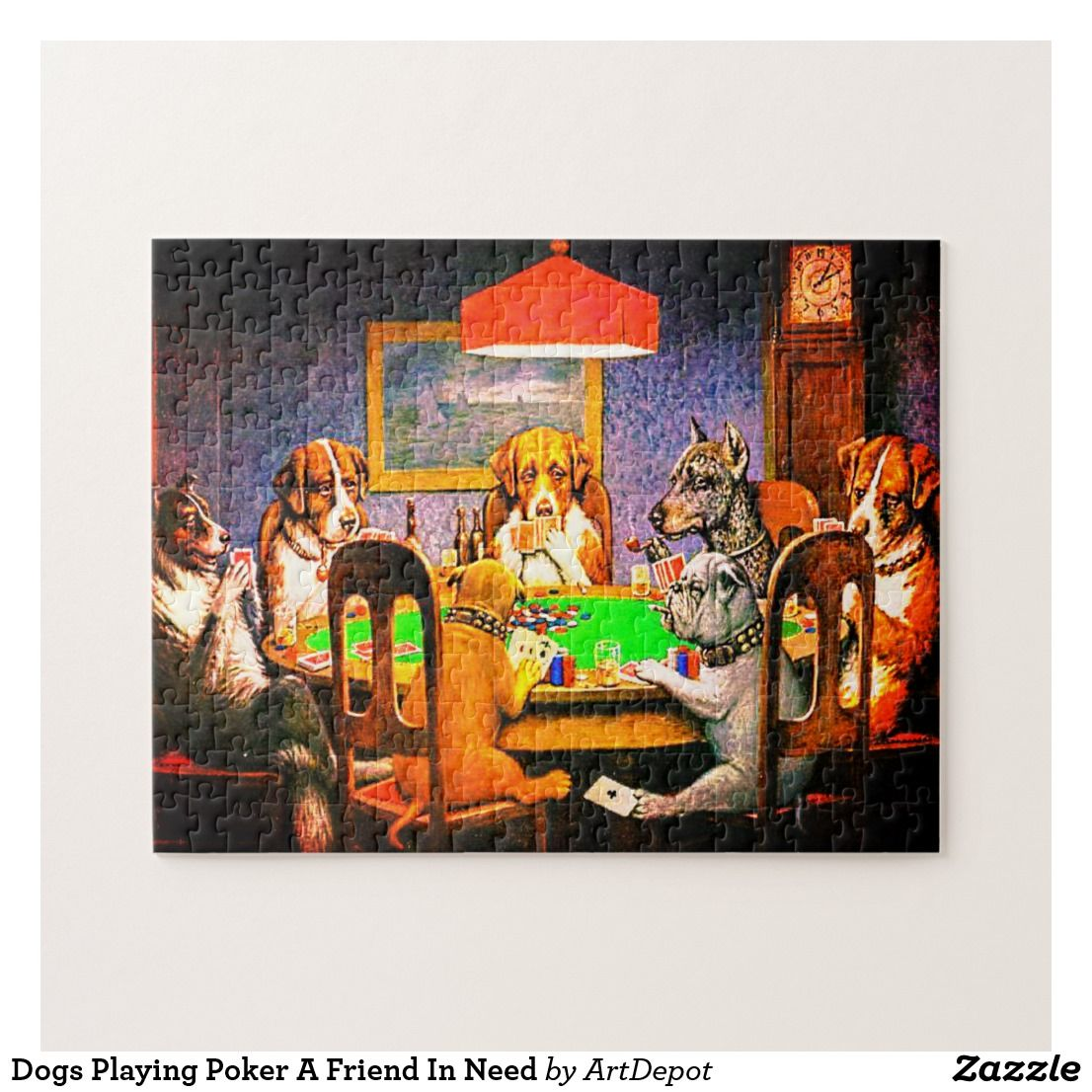 Dogs playing poker puzzle world tavern poker open 24