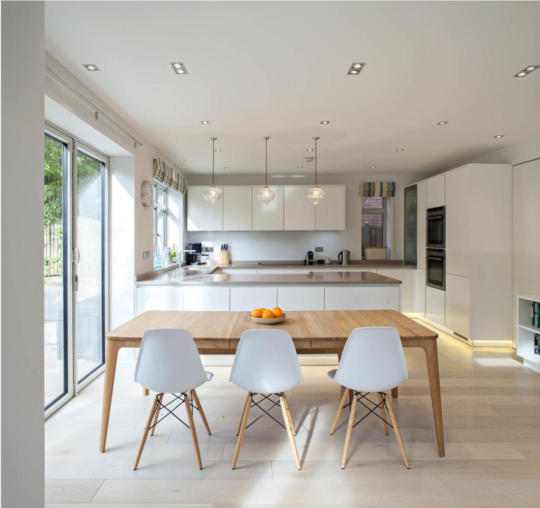 Clean Scandinavian Design In London Residencepic Twitter Com Hdrk3sqc7i In 2020 Open Plan Kitchen Living Room Kitchen Layout Kitchen Design