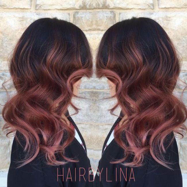 Ombr hair sur base brune la couleur qui cartonne en 2016 54 photos hair style - Couleur ombre hair ...