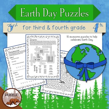earth day puzzle pack for grade 3 and 4 earth day resources