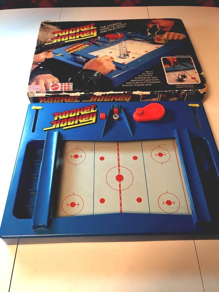 Rare Vtg 1978 Mattel Rocket Hockey Sport Game Board Toy Retro 80s Kids Gretzky S Sport Hockey 80s Kids Sports Games
