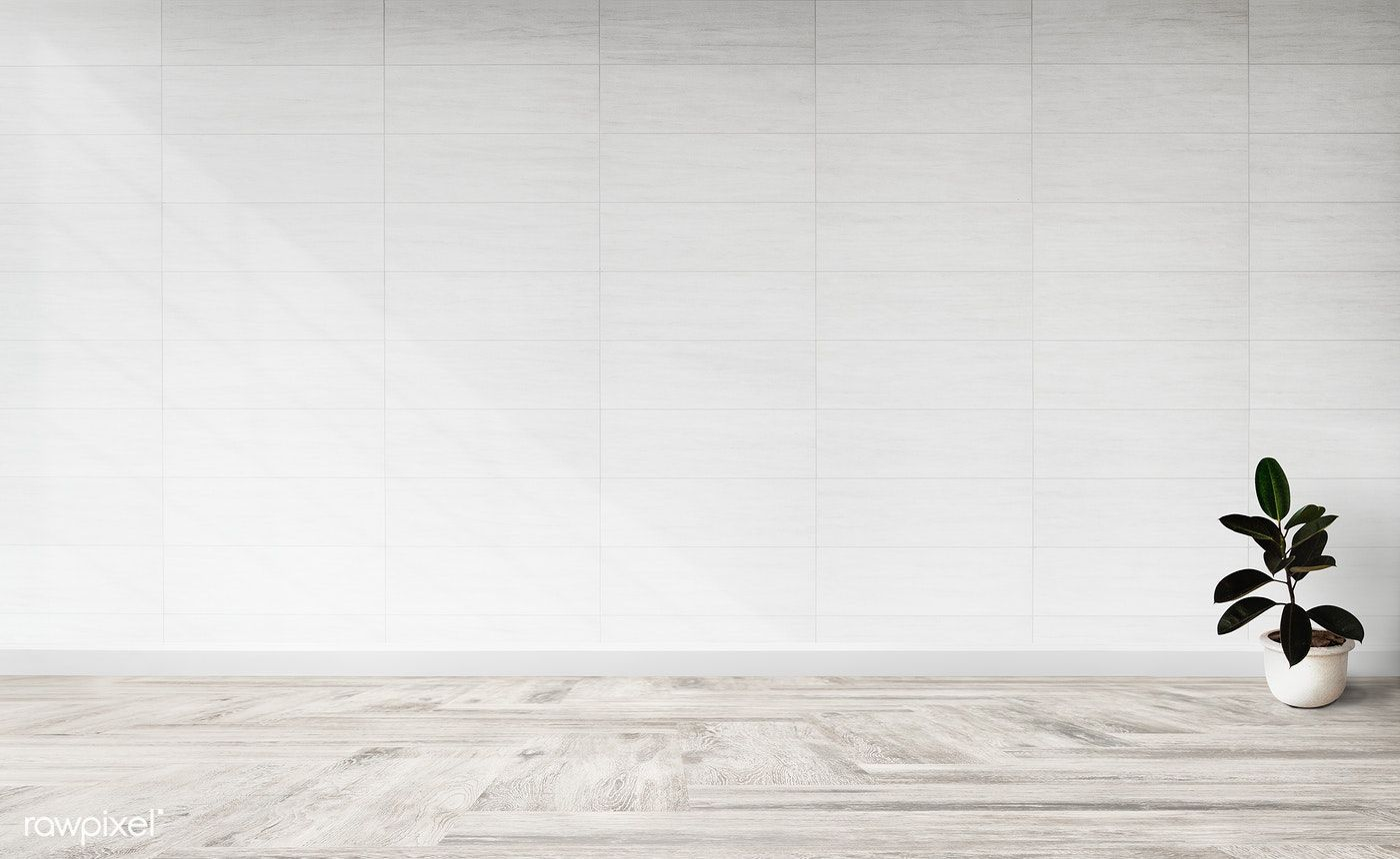 Empty White Wall And Wood Flooring Room Vintage Interior Design