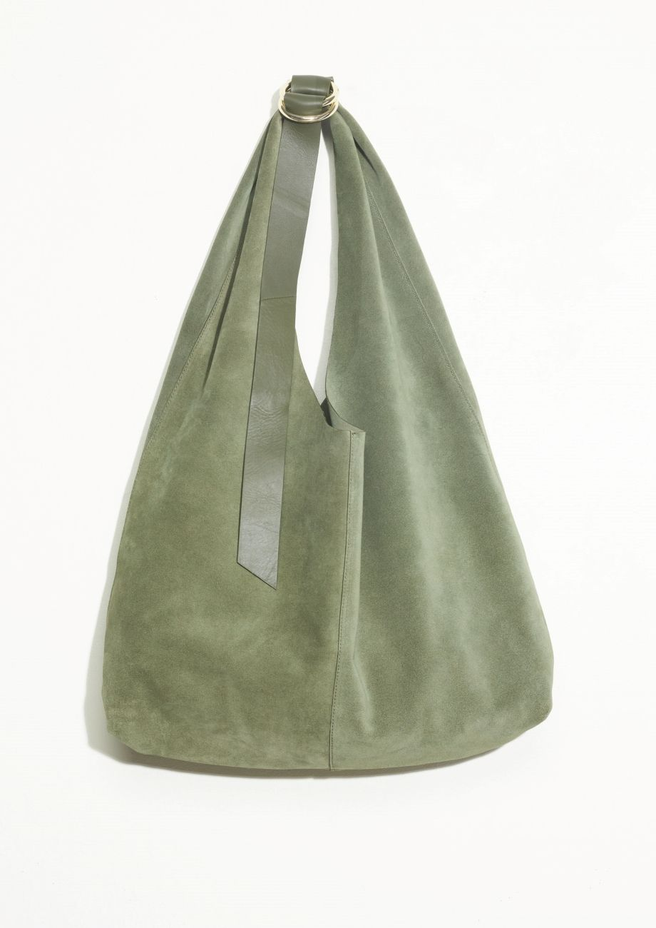 Other Stories Image 1 Of Suede Hobo Bag In Khaki Green