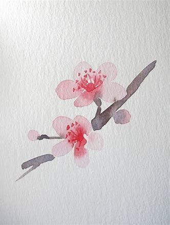Photo of Image result for Japanese Flower Watercolor for Be+#beginner…