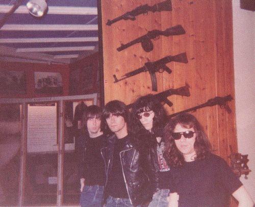 Ramones on tour in Europe, 1977