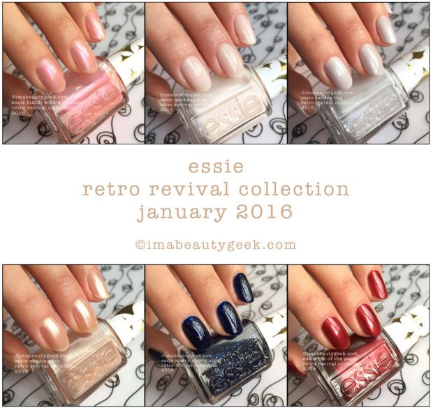 Essie Retro Revival Collection 2016 Swatches & Review at ...