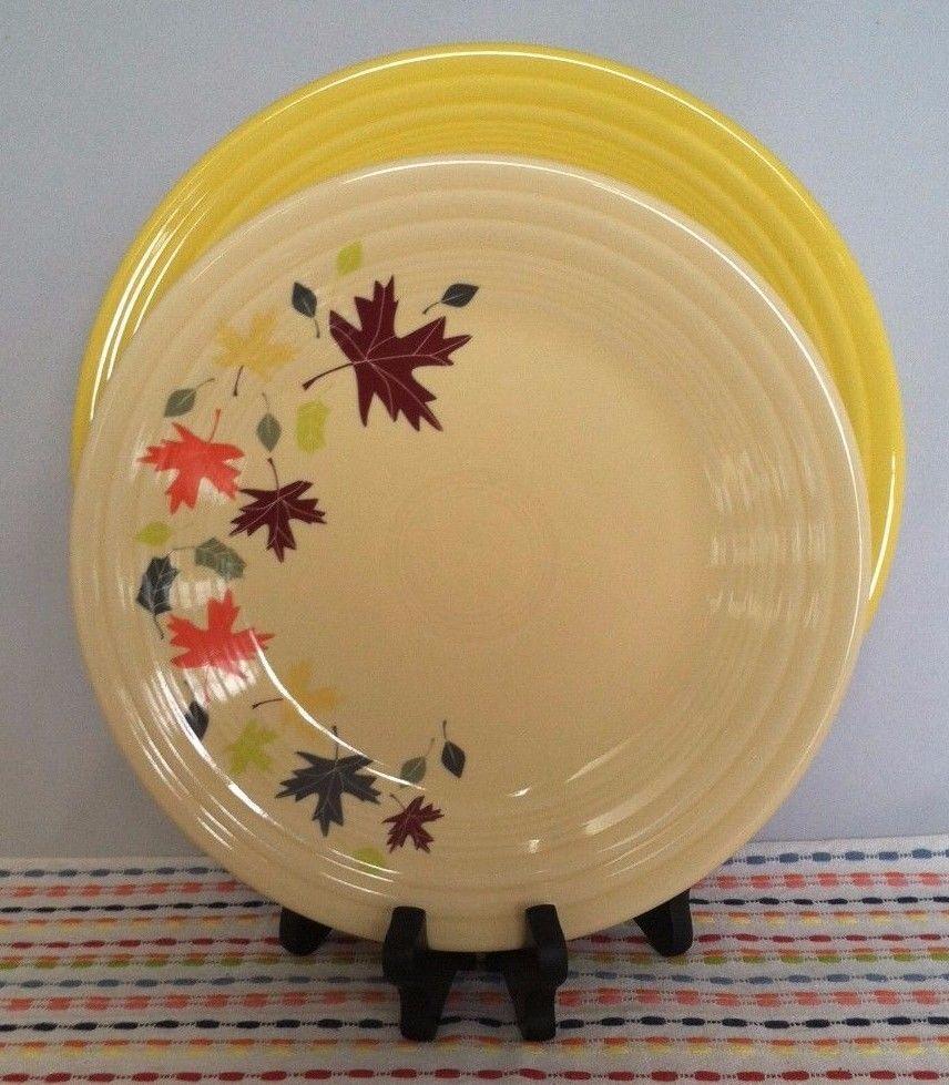 Fiestaware Autumn Leaves Lunch Plate and Sunflower Dinner Plate Combo Set Fiesta & Fiestaware Autumn Leaves Lunch Plate and Sunflower Dinner Plate ...