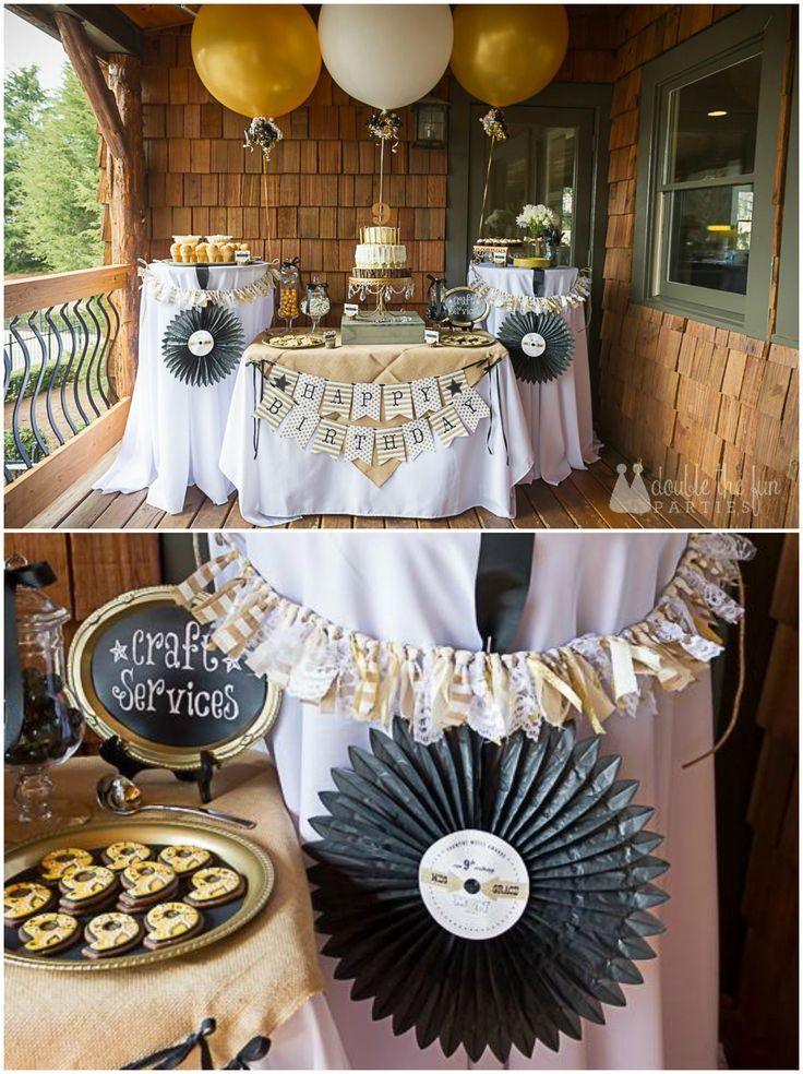 Country Music Awards Party Record Medallions By Double The Fun Parties