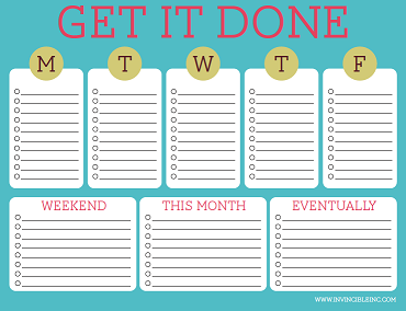 Free Printable To Do Lists Cute Colorful Templates To