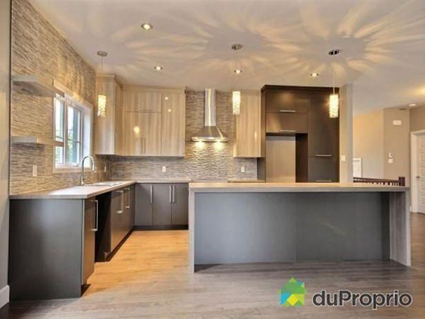 Kitchen Modern Split Level Home With Open Floor Plan, 2 Bedrooms,