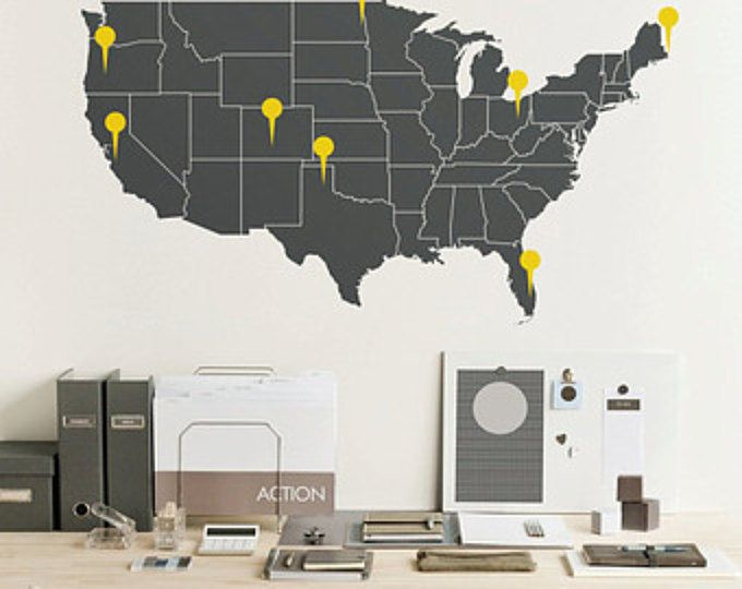 Us map decal american maps simple us map decal 28 chart with us map decal gumiabroncs Choice Image