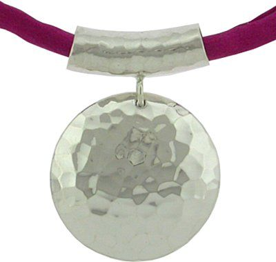 Hammered Silver Necklace design free at Nina Designs Shop for all