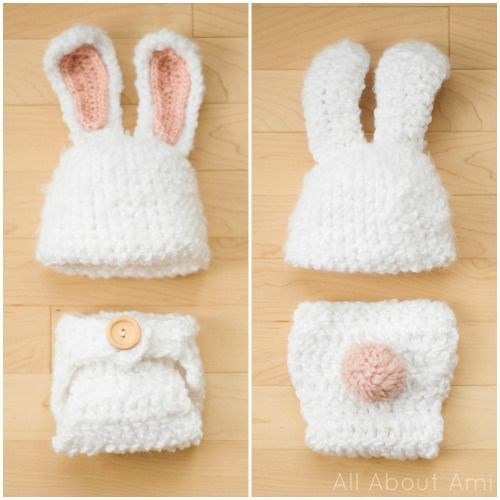 Spring Crochet | Crochet baby | Pinterest | Baby bunny outfit, Bunny ...