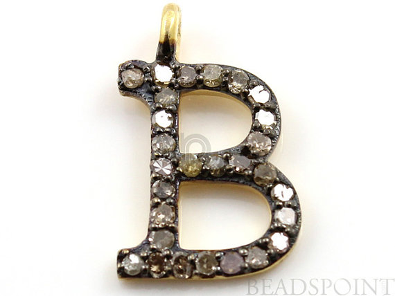 yellow roberto necklace pendant initial medallion gold letter coin tiny b treasures diamond