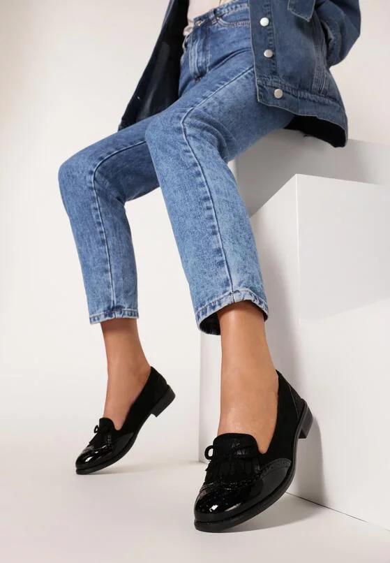 Czarne Mokasyny Iamellia Loafers Shoes Fashion