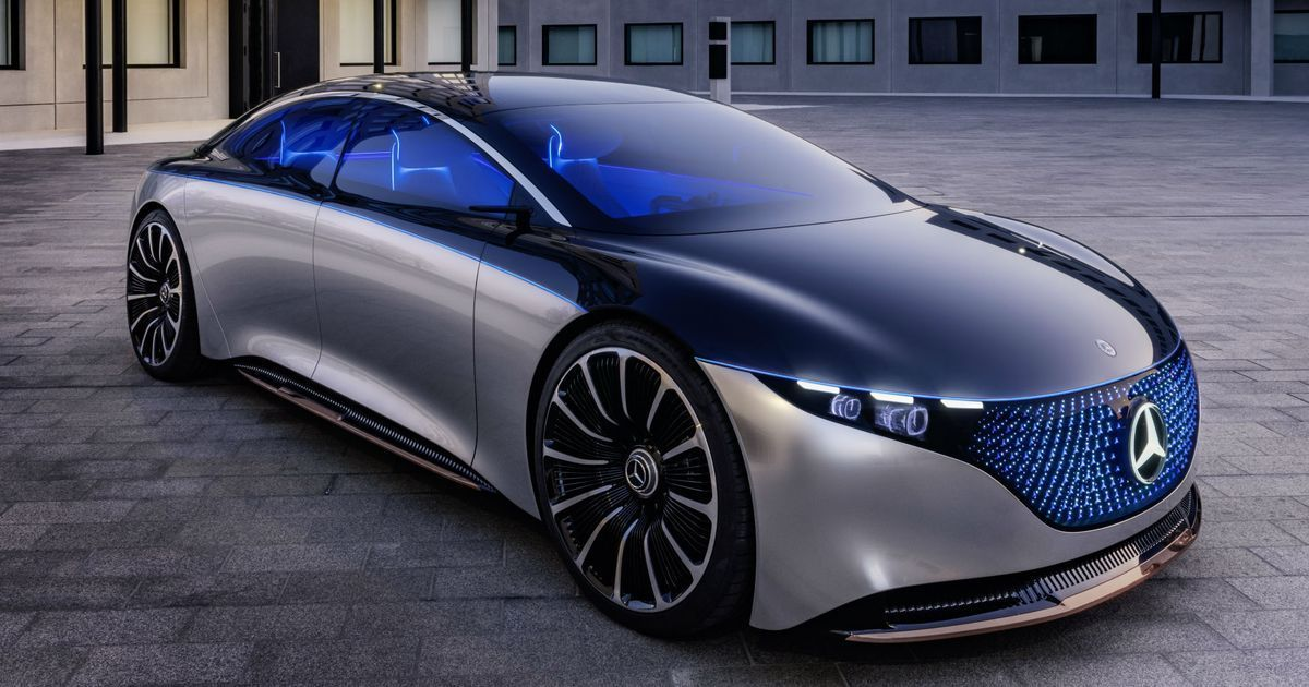 Mercedes-Benz's electric car concept has an LED grille and 'fragrance flask'