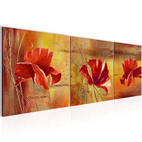 Bilder Blumen Mohnblume Wandbild Vlies - Bilder Blumen bilder