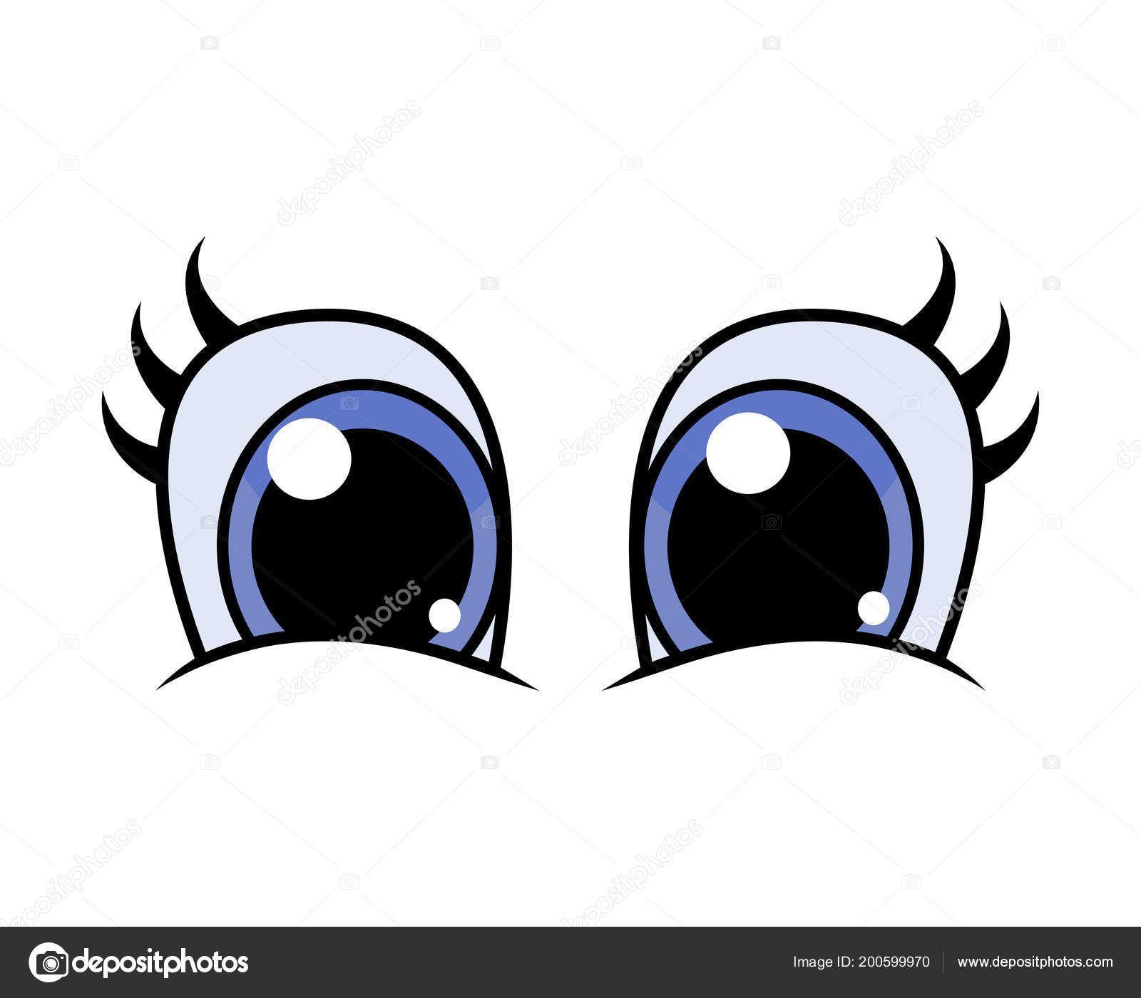 Ojos Personaje Dibujos Animados Con Pestanas Vector Diseno Aislado Blanco Ilustracion De Stock Dibujos Pintado De Ojos Ojos De Muneca