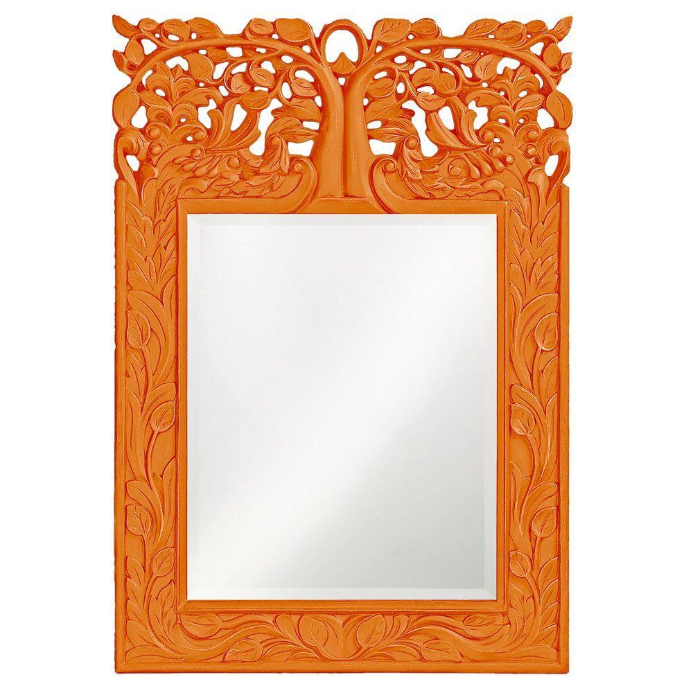 Howard elliott oakvale orange mirror 17 x 25 x75 wall mirror howard elliott oakvale orange mirror 17 x 25 amipublicfo Gallery