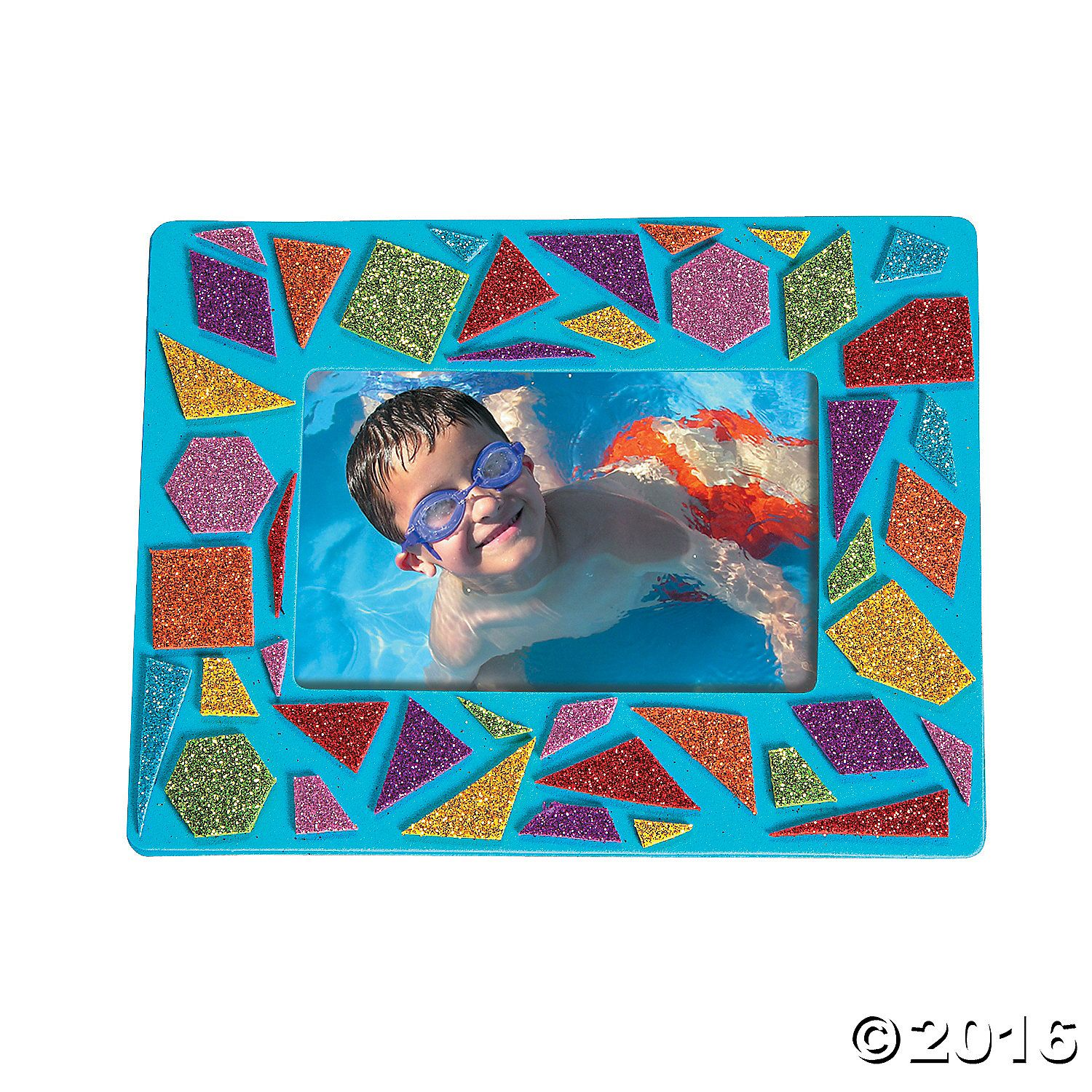 Display you favorite photo in a frame you created thanks to this mosaic picture frame kit photo crafts crafts for kids craft hobby supplies oriental trading jeuxipadfo Gallery