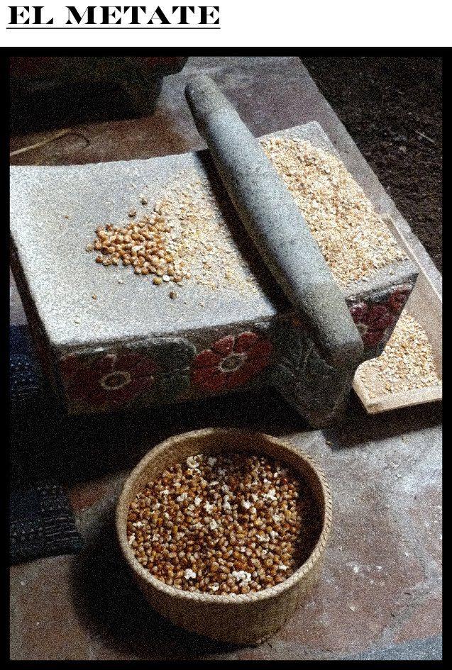 Metate y metlapil mano utensilios aztecas m xico for Utensilios de cocina mexicana