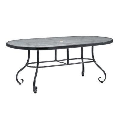 Woodard Ramsgate Oval Obscure Glass Dining Table Wayfair Oval