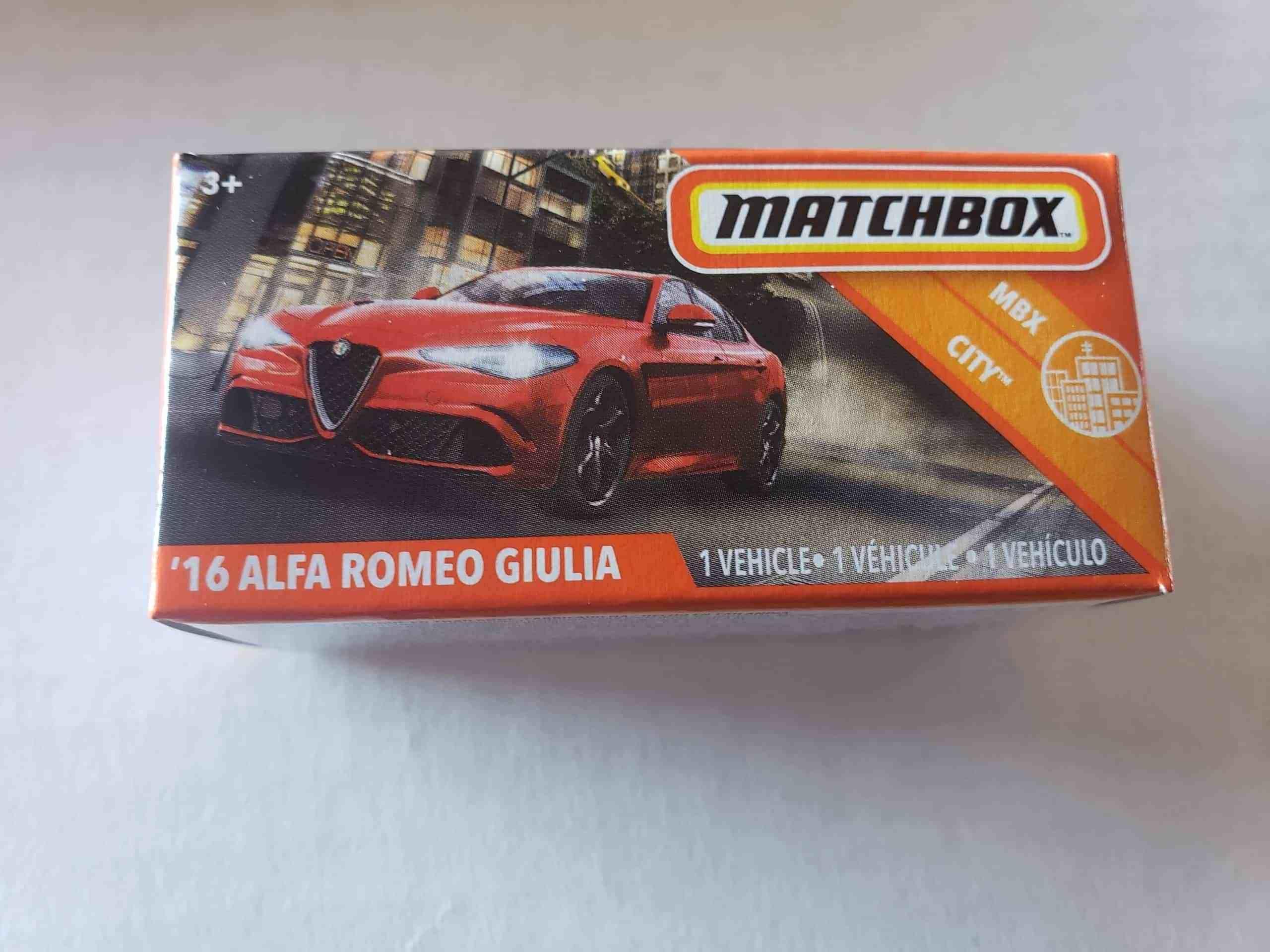Matchbox 2020 Mbx City 2016 Alfa Romeo Giulia Power Grabs Gkn25 At Jtc Collectibles Alfa Romeo Giulia Alfa Romeo Matchbox