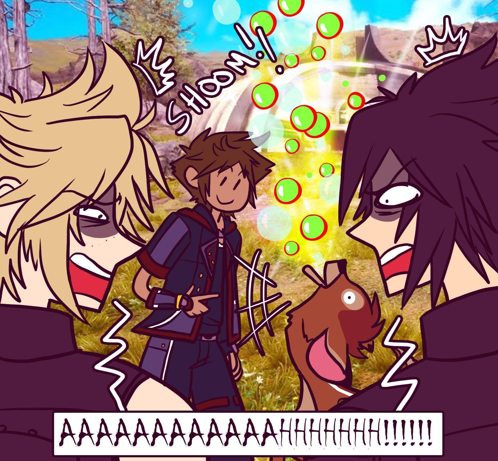 Sora x Kairi Morning Coffee Part 3   Kingdom hearts funny