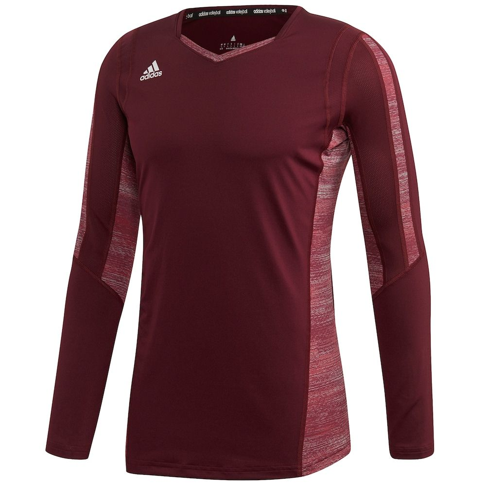 Women S Adidas Quickset Long Sleeve Volleyball Jersey Volleyball Jerseys Adidas Women Long Sleeve