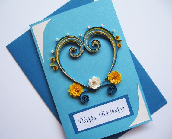 Husband Birthday Card Valentines Day Card Quilling Heart for Him – Special Valentine Cards for Him