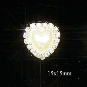 10 GOLD HEART DIAMANTE RHINESTONE CRYSTAL EMBELLISHMENTS FOR WEDDING INVITATIONS