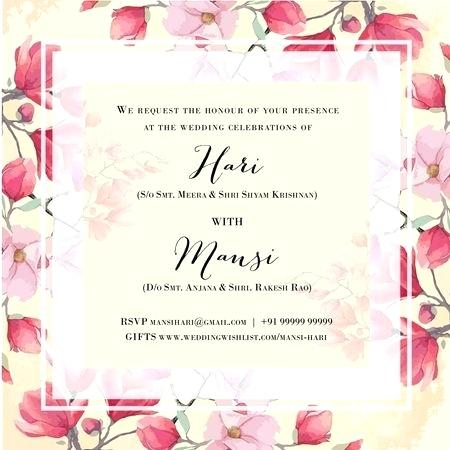 Wedding Invitations Templates Free Online Indian Wedding Invitation Card Maker Online Free Di 2020 E Card