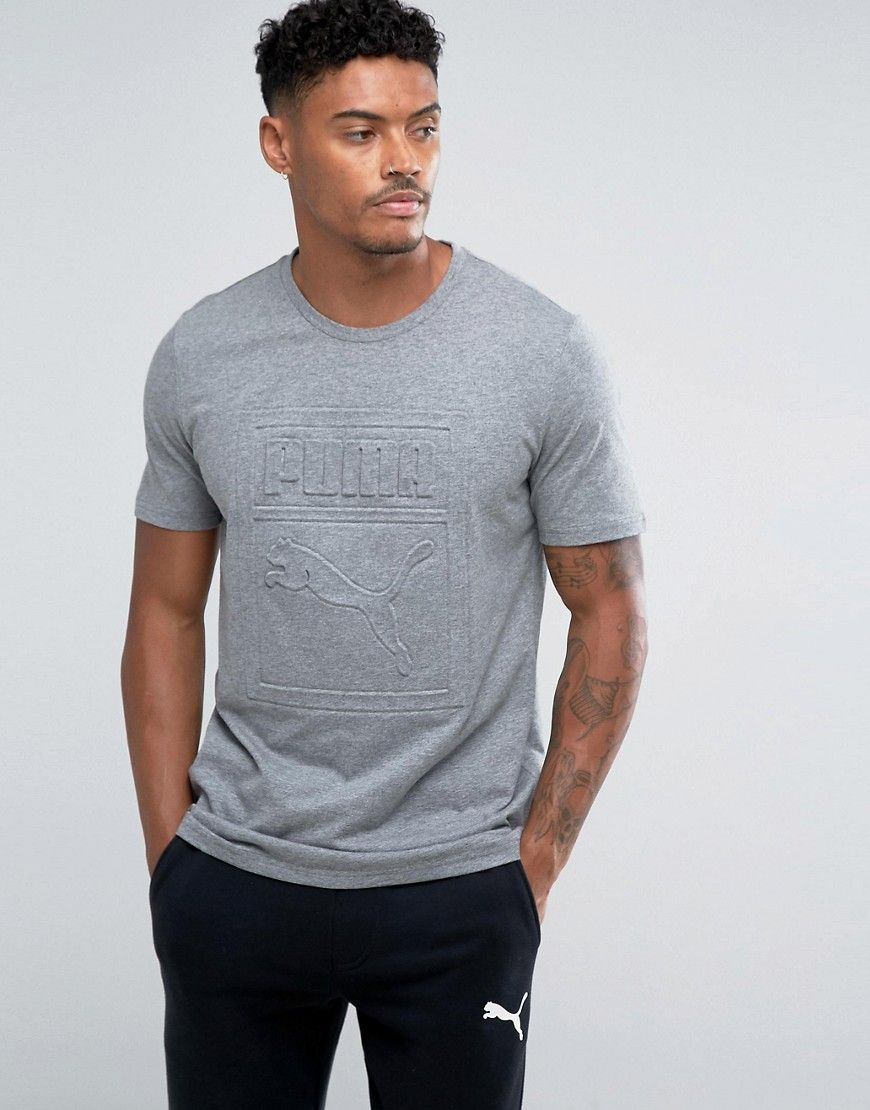 e01990d010b Puma Archive Embossed Logo T-Shirt In Gray 57450703 - Gray ...