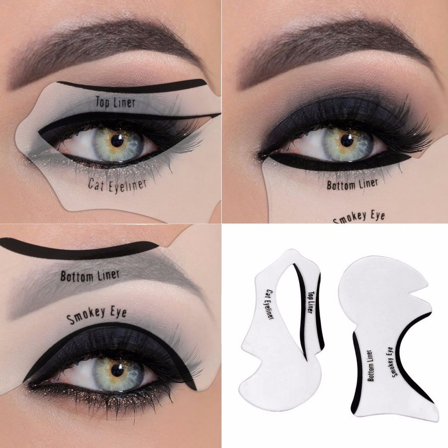 Details About Eyeliner Stencil Eyeshadow Guide Smokey Cat
