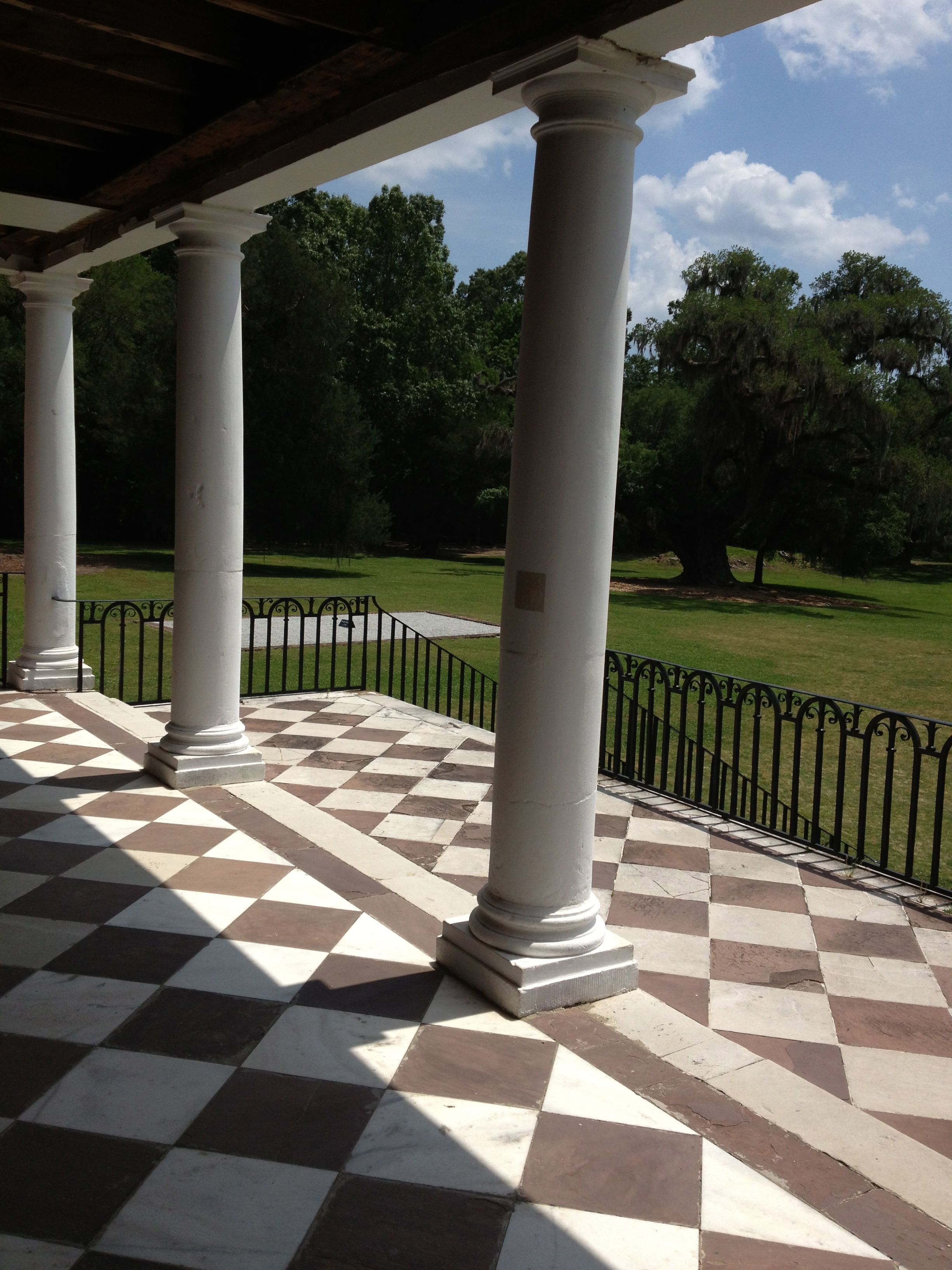 First Floor Portico, Drayton Hall Old mansions
