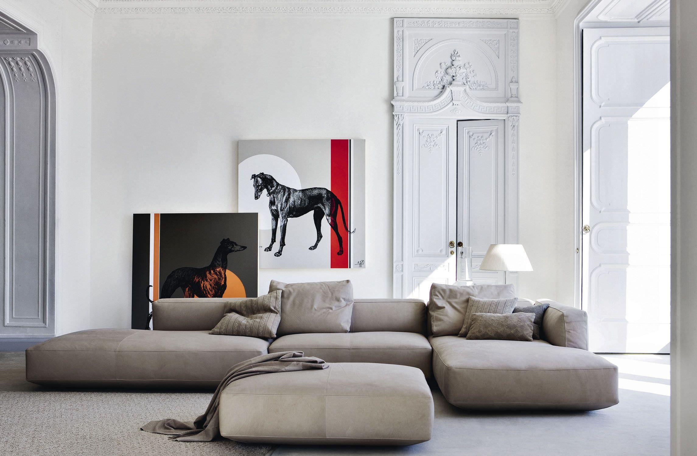 modular sofa / contemporary / leather / textile pianoalto