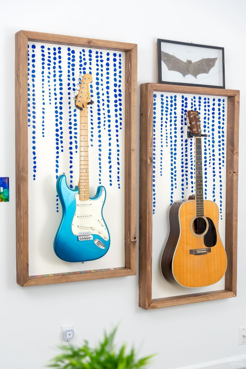 Diy Guitar Display Frame Wall Frame Design Guitar Display Guitar Wall Art