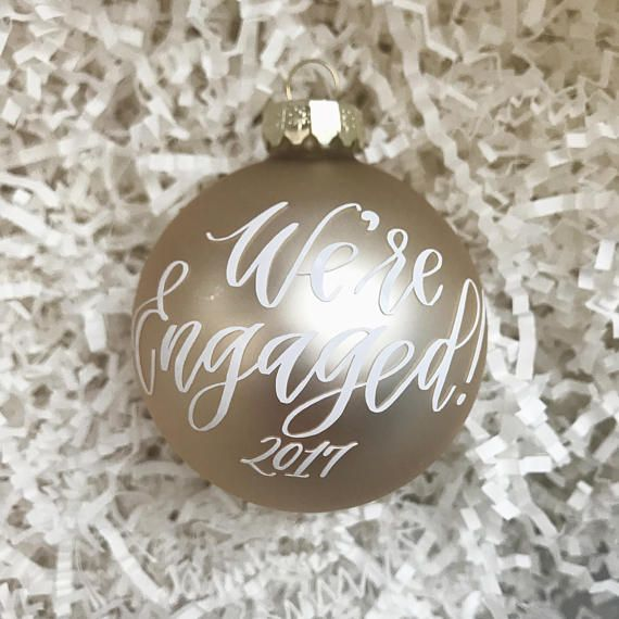 Engaged 2020 Christmas Ornament Engagement Ornament 2020 2.5 Champagne Christmas | Etsy