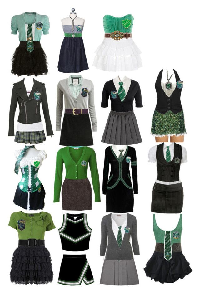 """Slytherin Style"" by arkaya ❤ liked on Polyvore featuring Katie"