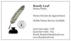 Premium Business Cards Designed By Randolph Leaf Vistaprint Notary Public Business Premium Business Cards Notary Public