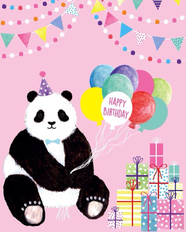 Happy Birthday! Super Cute Mr Panda #lauramaydesignstudio