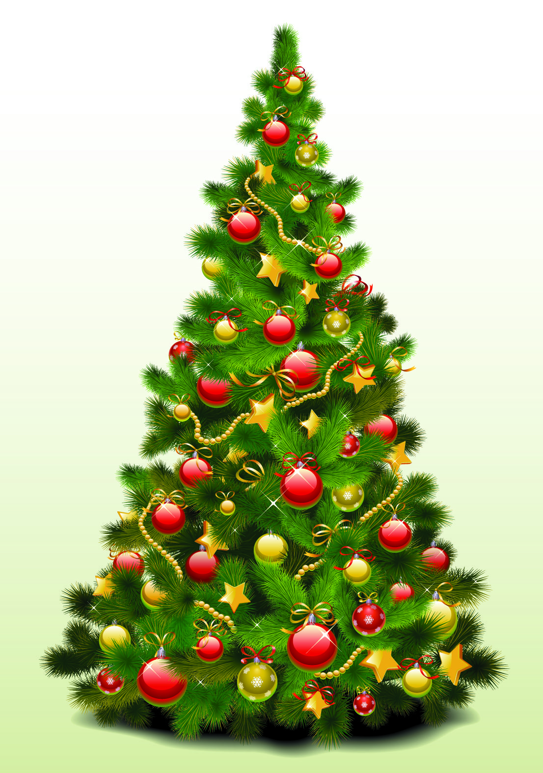 Free Vector Exquisite Christmas Tree Vector Graphic Available For Free Downlo Christmas Tree With Coloured Lights Christmas Tree Pictures Christmas Tree Images