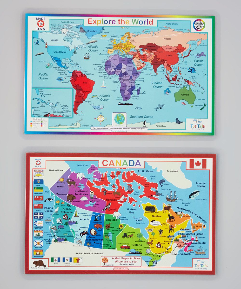 Look at this canada map world map activity place mat set on look at this canada map world map activity place mat set on zulily today gumiabroncs Image collections