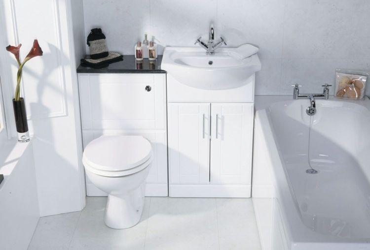 Schrank Badezimmer ~ Badmoebel kleine baeder mini waschbecken idee toiletten schrank