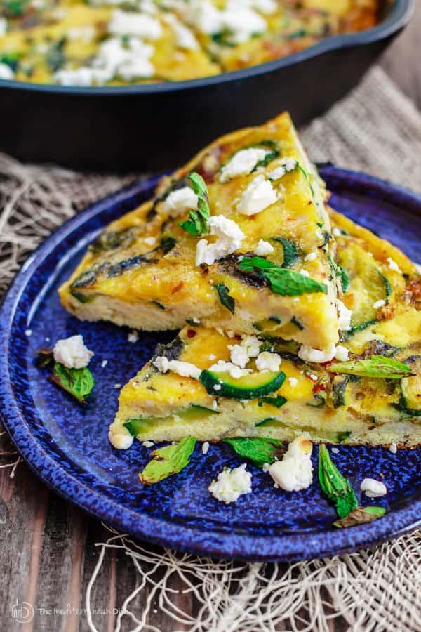 Middle Eastern Zucchini Baked Omelet (Eggah bi Kousa) | The Mediterranean  Dish | Mediterranean dishes, Mediterranean recipes, Baked omelet