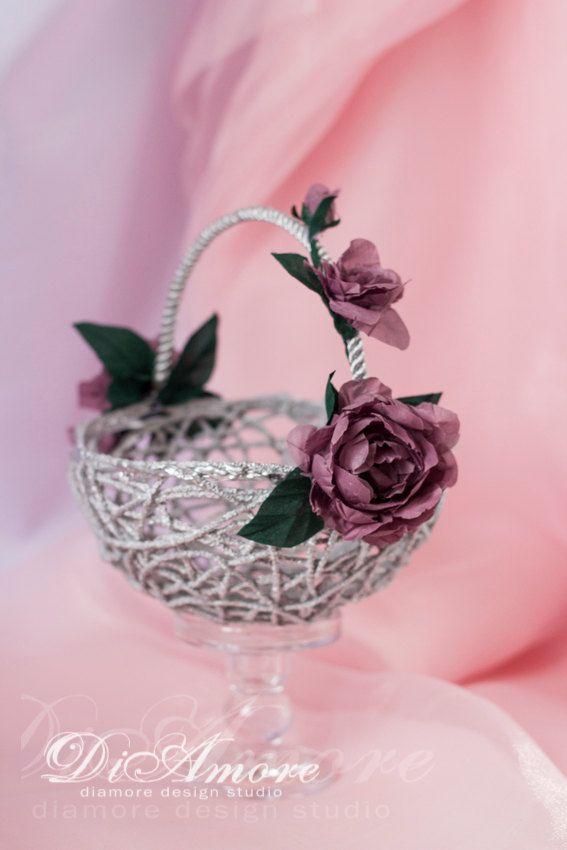Flower Girl BasketLilac and Silver wedding от DiAmoreDS на Etsy ...